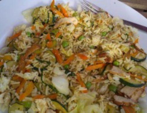Rýže basmati se zeleninou